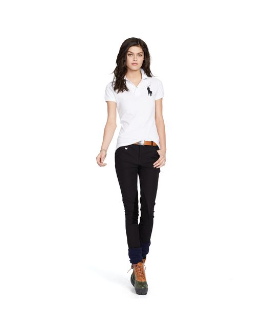 Polo Ralph Lauren | White Skinny Fit Big Pony Polo Shirt | Lyst