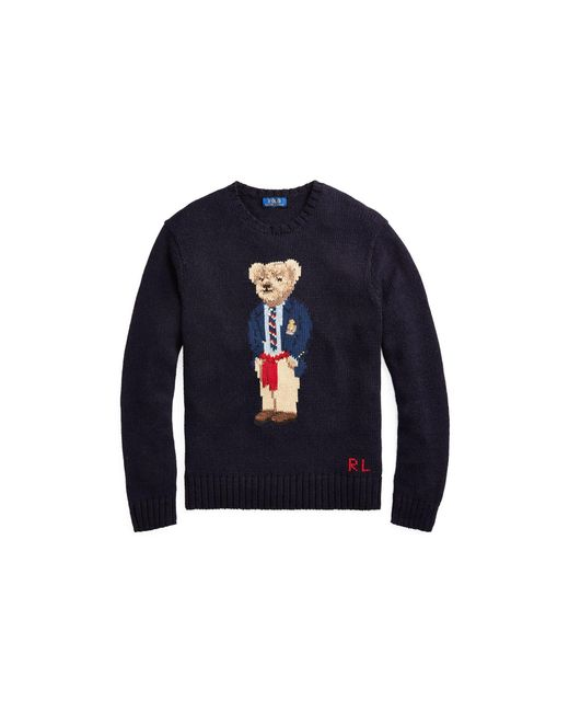 Polo Ralph Lauren - Blue The Iconic Polo Bear Sweater for Men - Lyst