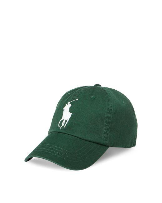 Polo Ralph Lauren   Green Big Pony Chino Baseball Cap for Men   Lyst