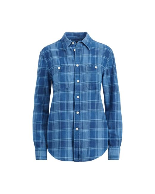 Polo Ralph Lauren | Blue Relaxed Plaid Twill Shirt | Lyst