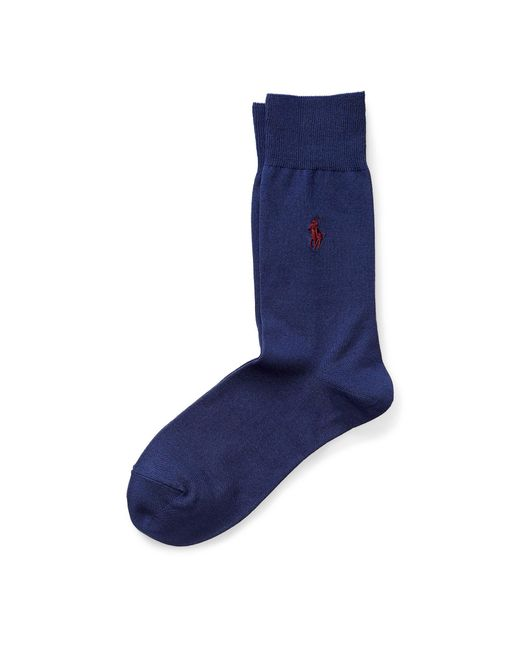 Polo Ralph Lauren | Red Pony Flat-knit Trouser Socks for Men | Lyst