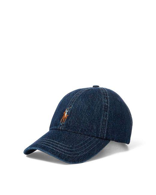 0751c63c3db9c Polo Ralph Lauren - Blue Denim Baseball Cap for Men - Lyst ...