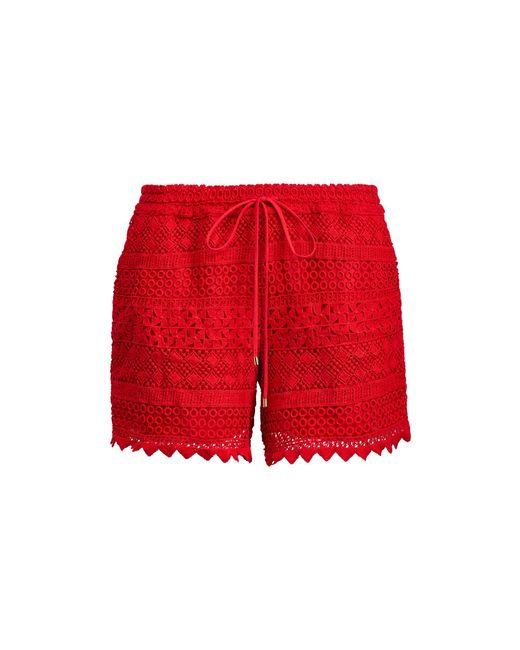 Lauren by Ralph Lauren - Red Lace Short - Lyst