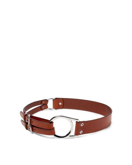 Ralph Lauren | Brown Leather Tri-strap Belt | Lyst