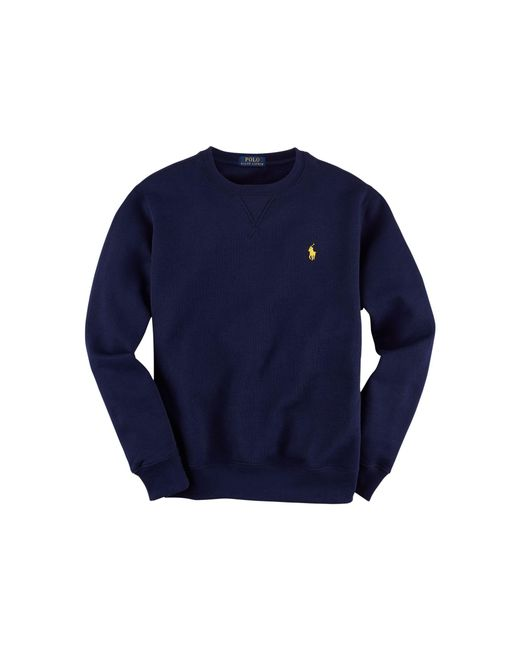 Polo Ralph Lauren | Blue Cotton-blend Fleece Sweatshirt for Men | Lyst