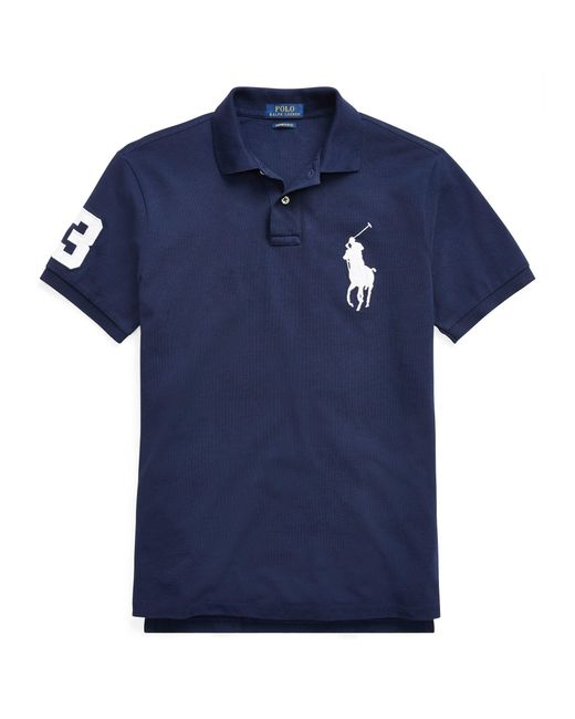 Pink Pony - Blue Classic Fit Mesh Polo Shirt for Men - Lyst