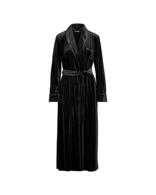 Ralph Lauren - Black Long Velvet Robe - Lyst