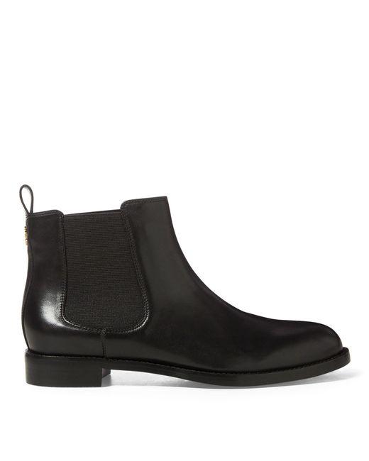Ralph Lauren - Black Haana Leather Boot - Lyst