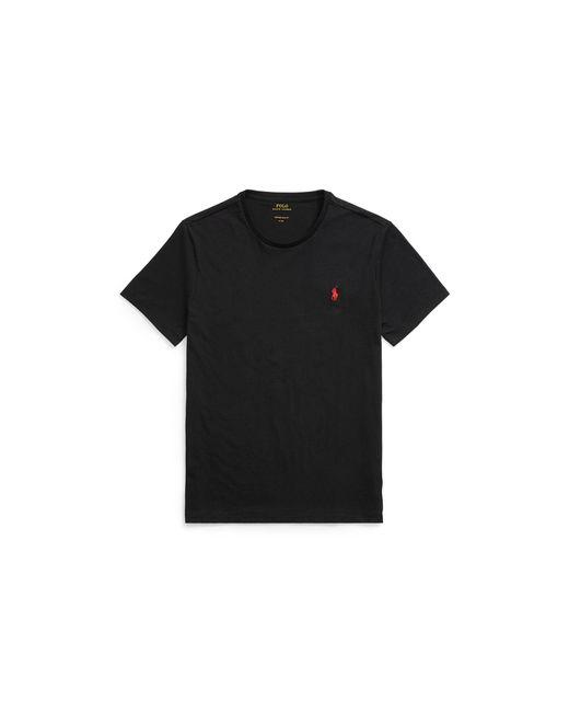 Polo Ralph Lauren - Black Custom Fit Cotton T-shirt for Men - Lyst