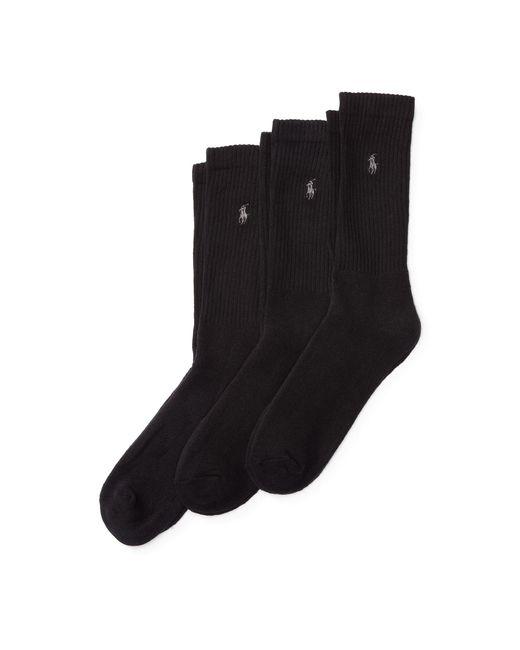 Polo Ralph Lauren - Black Trouser Sock 3-pack for Men - Lyst