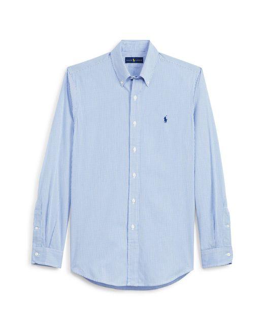 Polo Ralph Lauren - Blue Striped Cotton Poplin Shirt for Men - Lyst