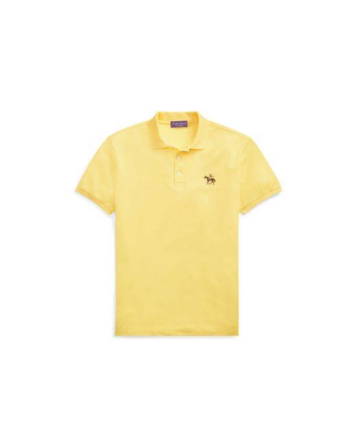 Ralph Lauren Purple Label - Yellow Custom-fit Piqué Polo Shirt for Men - Lyst