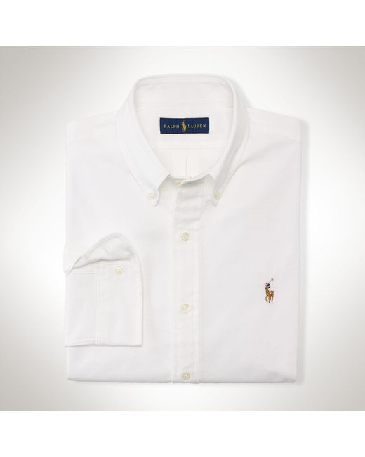 Polo Ralph Lauren | White Slim-fit Stretch Oxford Shirt for Men | Lyst