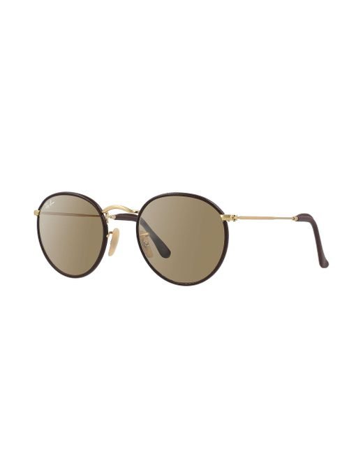 Ray ban round craft in brown lyst for Ray ban round craft