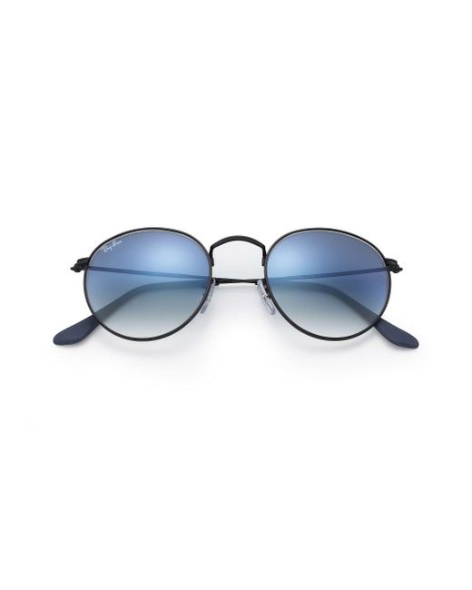 d98c61a8067 ... Ray-Ban - Blue Round Metal for Men - Lyst