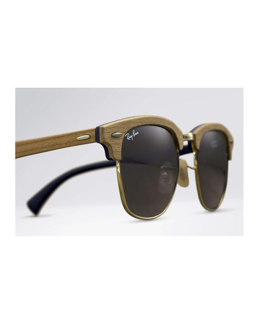 7d4ad18831f ... Ray-Ban - Blue Clubmaster Wood for Men - Lyst