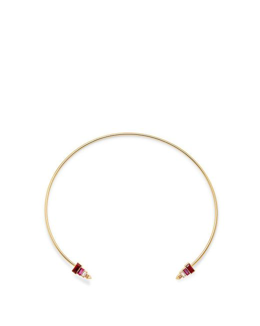 Rebecca Minkoff | Metallic Stacked Baguette Collar Necklace | Lyst