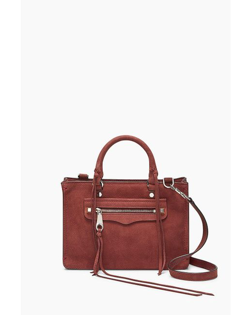 Rebecca Minkoff - Red Micro Regan Satchel - Lyst