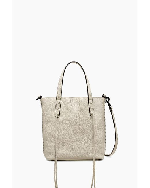 Rebecca Minkoff | White Mini Unlined Tote With Whipstitch | Lyst