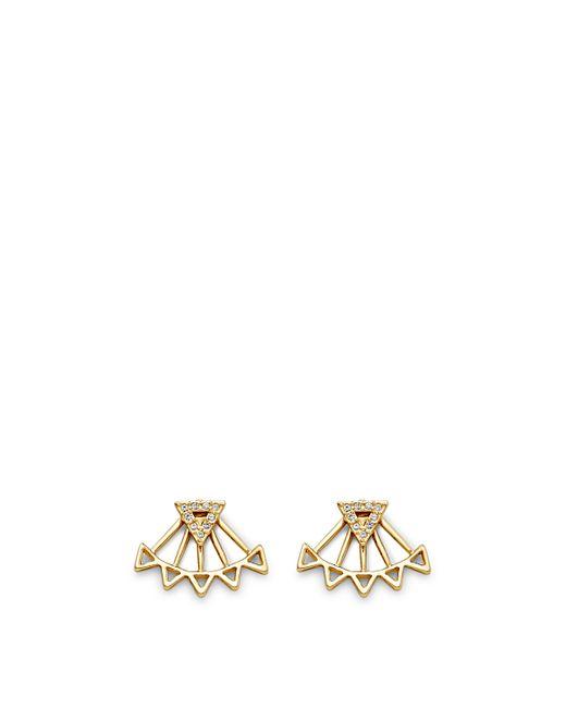 Rebecca Minkoff | Metallic Two Part Triangle Earring | Lyst