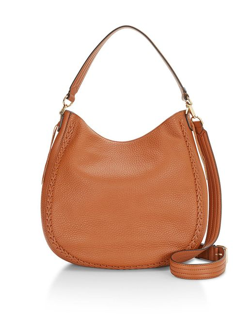 Rebecca Minkoff | Brown Unlined Convertible Hobo Whipstitch | Lyst