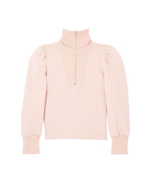 Rebecca taylor Fleece Turtleneck Zip Pullover | Lyst