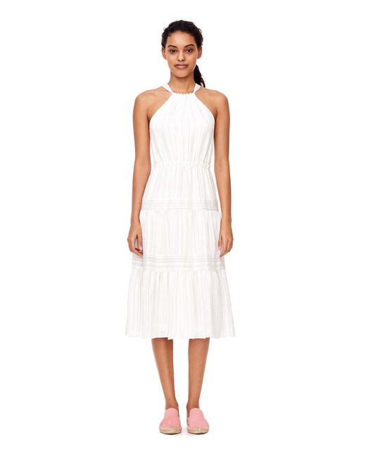 Rebecca Taylor | White Sleeveless Yarn Dyed Stripe Dress | Lyst