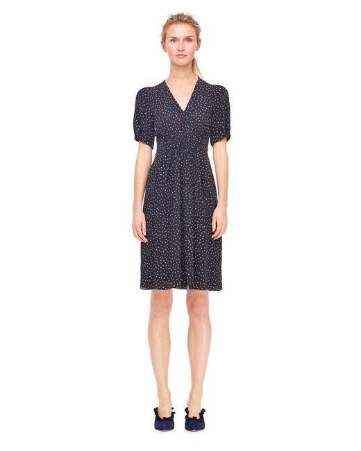 Rebecca Taylor | Black Hummingbird Print Silk Dress | Lyst
