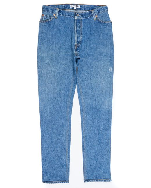 Re/done - Blue Straight Skinny - Lyst