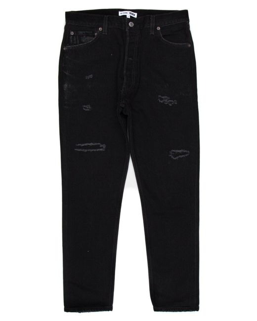 Re/done - Black High Rise Ankle Crop for Men - Lyst