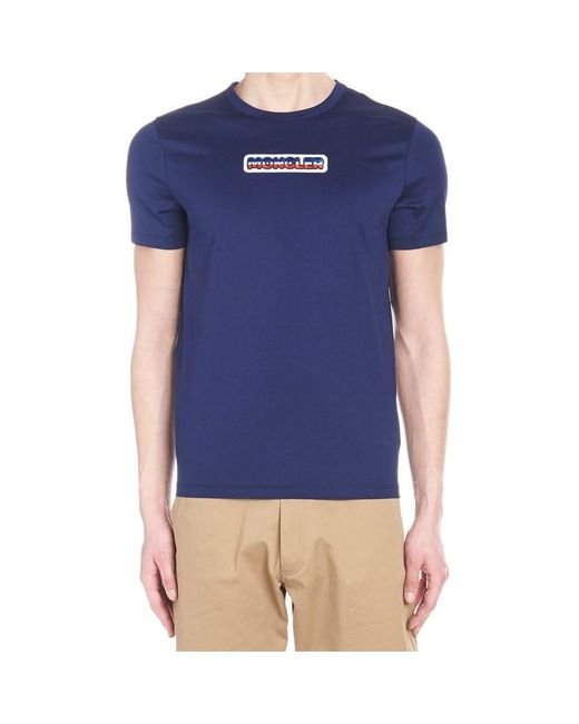 0b41f90a2 Lyst - Moncler Polos   T-shirts Blu in Blue for Men