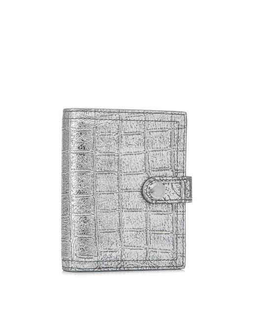 04ac22bd26ce Miu Miu - Natural Short Leather Wallet - Lyst ...
