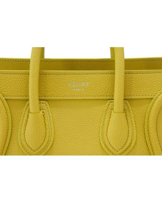 a34e10e33c ... Céline - Yellow Céline Nano Luggage - Lyst ...