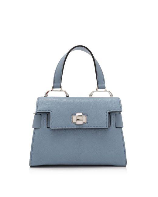 8991cdfcb410 Miu Miu - Blue Madras Top Handle Bag - Lyst ...