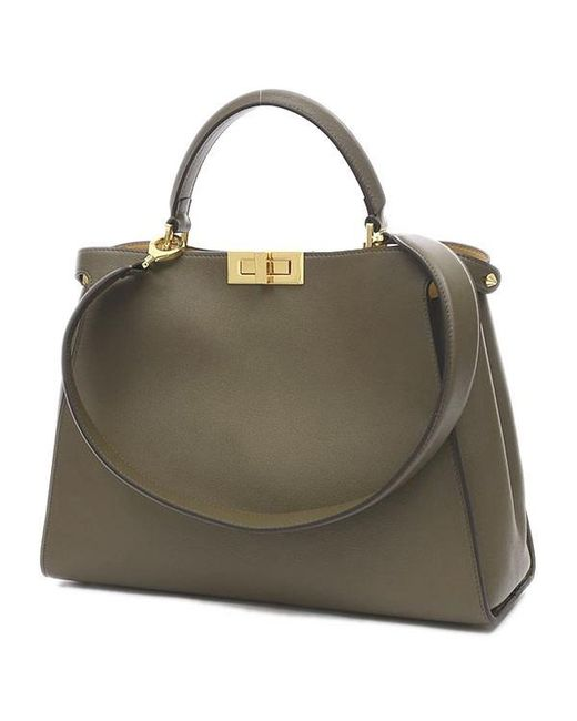 6f6077aaf75d clearance fendi peek a boo essential 2 way bag brown 8 bn 300 dc40b 2283b