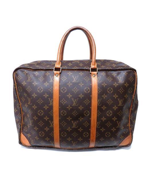 563701a68 ... Louis Vuitton - Brown Auth Serius Boston Hand Bag M41408 Monogram  Canvas Used for Men ...