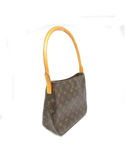 cc94da3c25e3a ... Louis Vuitton - Lv Looping Mm Shoulder Bag M51146 Monogram Brown 2880 -  Lyst ...