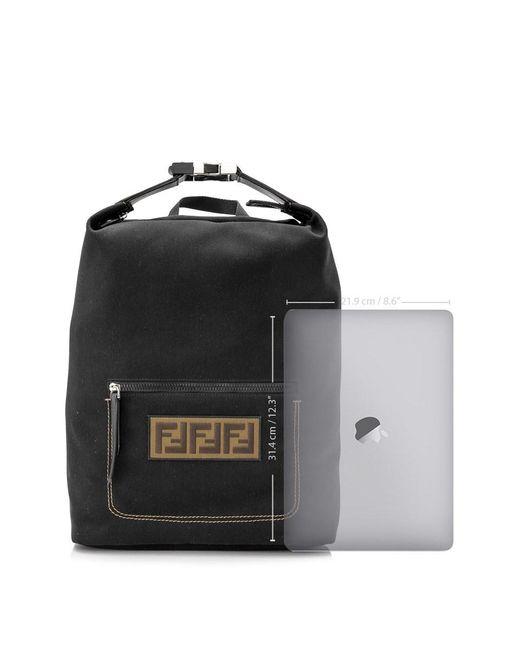 8d921fb8643 ... Fendi - Black Zaino Backpack for Men - Lyst ...