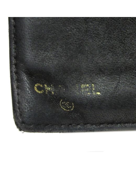 5e1e3daa82a2 ... Chanel - Authentic Cc Bi-fold Long Wallet Purse Caviar Leather Black  Used Vintage ...