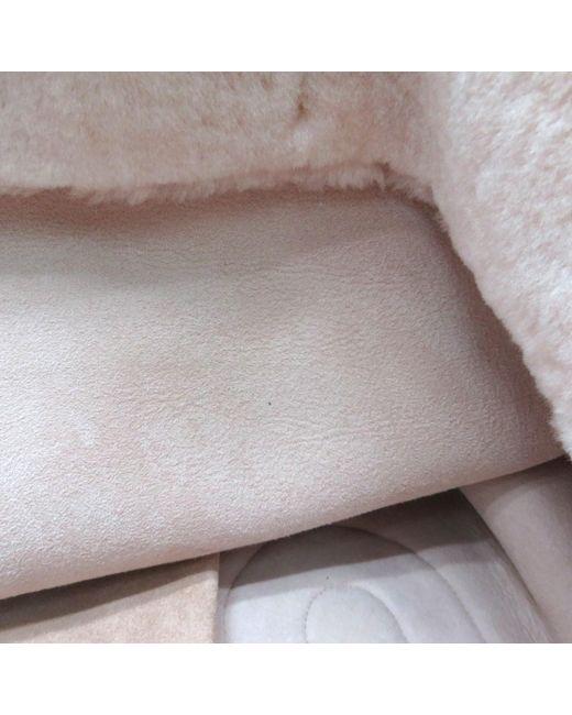 13e970345c9 ... Miu Miu - Shoulder Tote Bag 5bg083 Furry Pink 9909 - Lyst ...