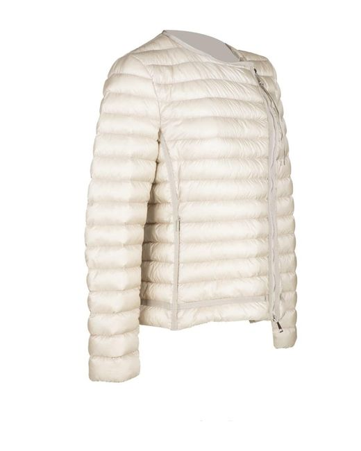 ... Moncler | Natural Amy Down Jacket | Lyst ...