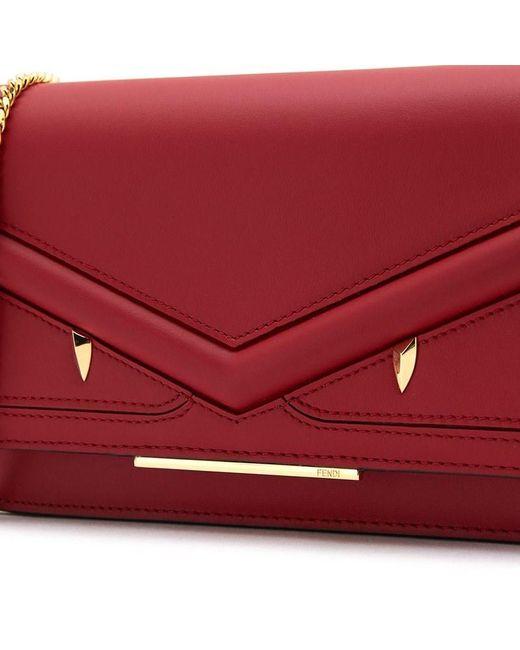 ... Fendi - Red Bag Bug Monster Tote Bag - Lyst ... 488ca252448c4