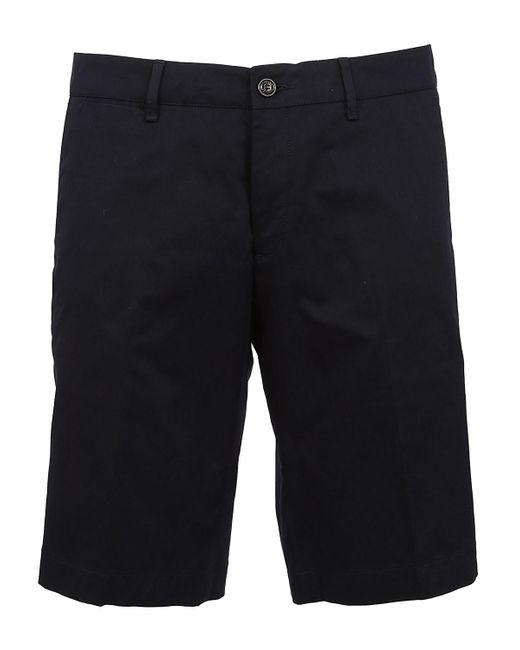 Moncler - Blue Cotton Short for Men - Lyst