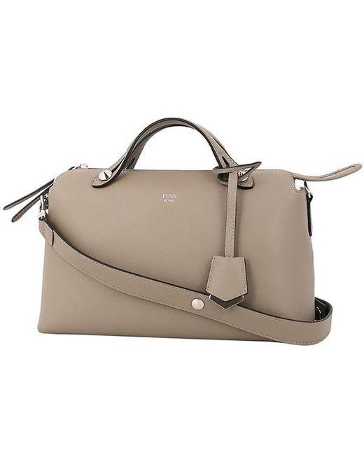 5b430d8f6aa2 Fendi - Natural By The Way Small Leather Graige Shoulder Bag Handbag - Lyst  ...
