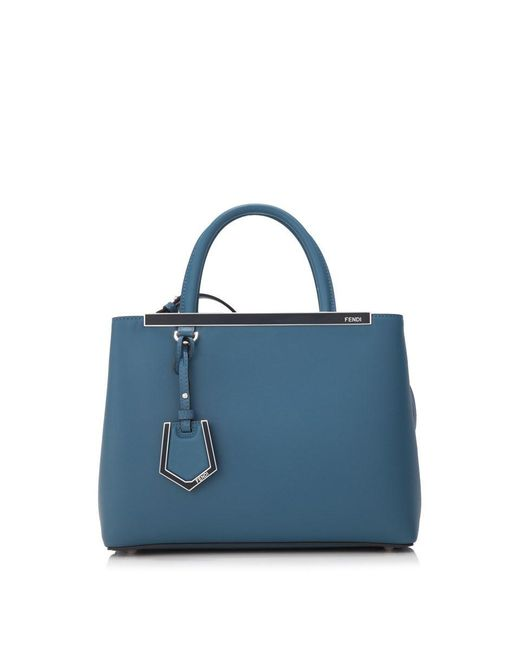 Lyst - Fendi Shopping 2jours Petite Tote in Blue - Save 22% f802c786ed384