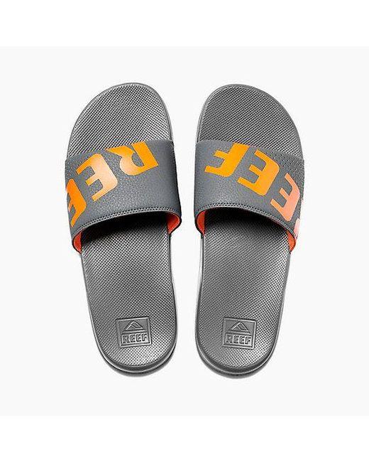 886cd733394a Reef - Gray One Slide for Men - Lyst ...