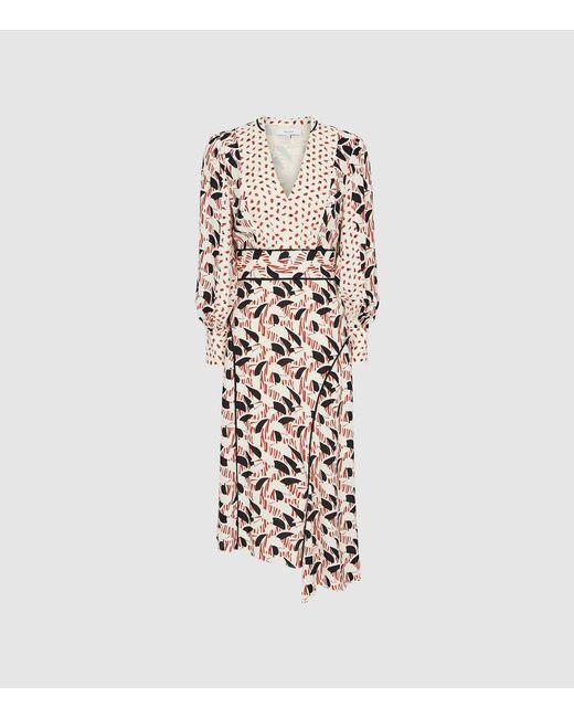 509816dd1f ... Reiss - Multicolor Emmi Print Dress - Lyst ...