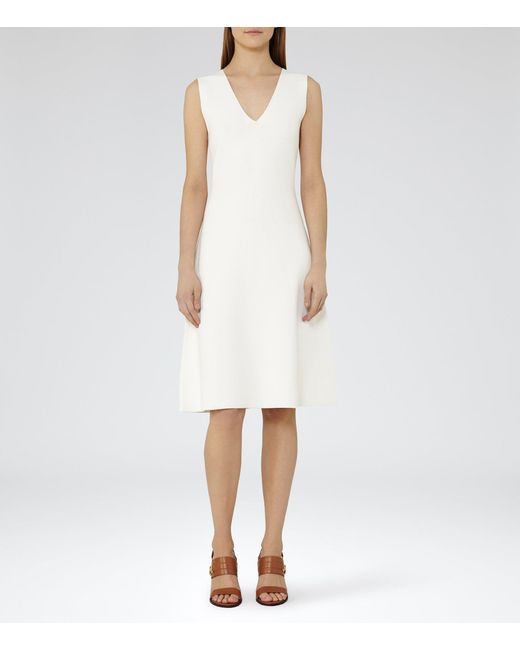 Reiss | White Michelle Knitted Dress | Lyst