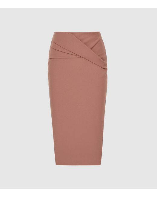 c5a69f45a ... Reiss - Multicolor Icia - Pleat Front Jersey Pencil Skirt - Lyst ...
