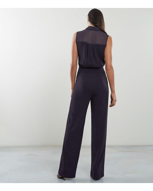 5afae4340623 Reiss Dina - Tuxedo Front Jumpsuit in Blue - Save 42% - Lyst